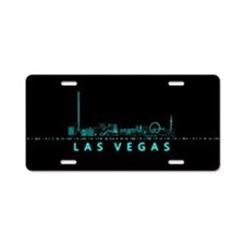 Digital Las Vegas: Futuristic Blue Lights Aluminum