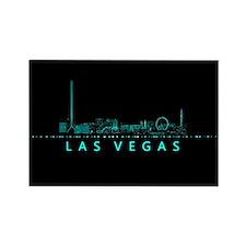 Digital Las Vegas: Futuristic Blue Lights Magnets
