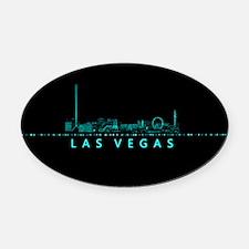 Digital Cityscape: Las Vegas, Neva Oval Car Magnet