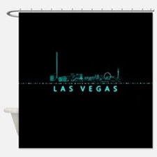 Digital Las Vegas: Futuristic Blue Lights Shower C