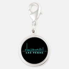 Digital Cityscape: Las Vegas, Silver Round Charm