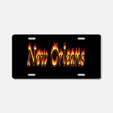 New Orleans Flame Aluminum License Plate