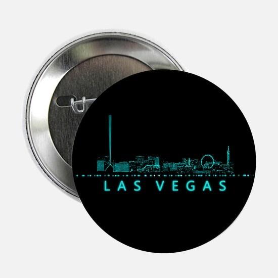 "Digital Las Vegas: Futuristic Blue Li 2.25"" Button"