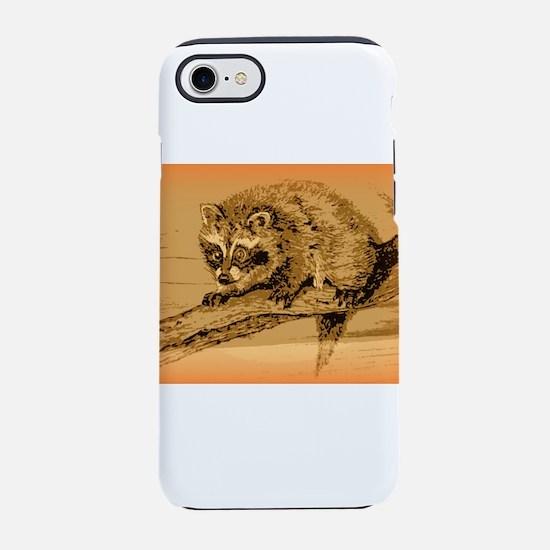 Curious Raccoon iPhone 8/7 Tough Case