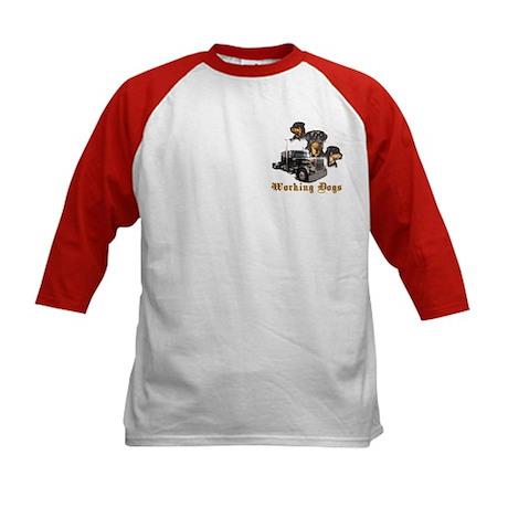 Working Dogs Kids Baseball Jersey