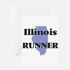 Illinois Runner Greeting Cards