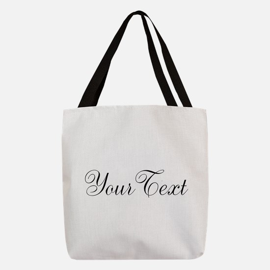 Personalizable Black Script Polyester Tote Bag