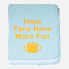 Iowa Fans Have More Fun baby blanket
