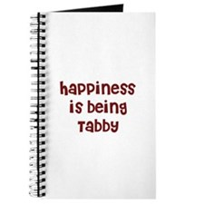 happiness is being Tabby Journal