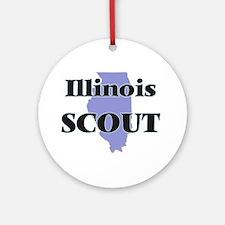 Illinois Scout Round Ornament