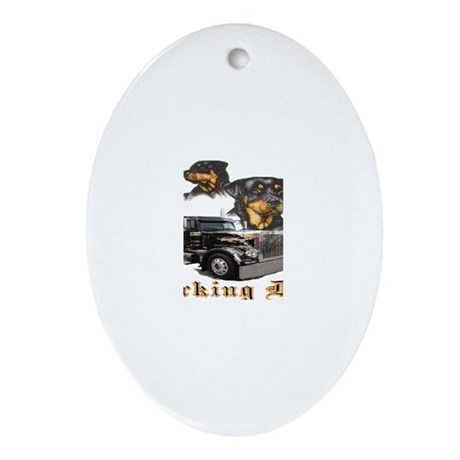 Working Dogs Oval Ornament