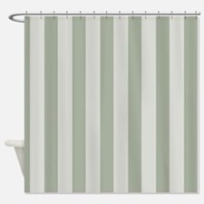 Sage Green Stripes Shower Curtain