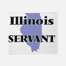Illinois Servant Throw Blanket