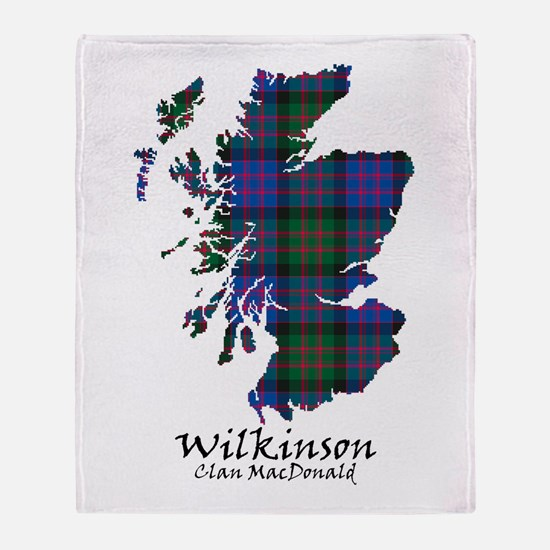 Map-Wilkinson.MacDonald Throw Blanket