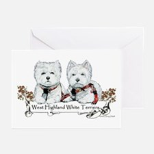 West Highland White Terriers Greeting Cards (Pk of