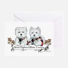 West Highland White Terriers Greeting Card