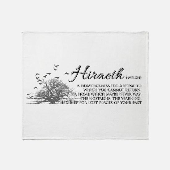 Hiraeth Welsh Nostalgia Home Throw Blanket