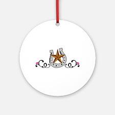 WESTERN DESIGN Round Ornament