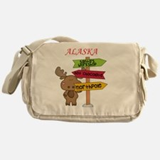 Alaska Moose What Way To The North P Messenger Bag