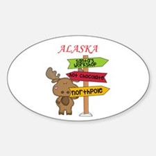 Alaska Moose What Way To The North Pole Decal