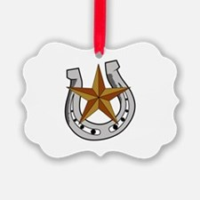 HORSE SHOE AND STAR Ornament