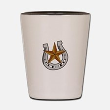 HORSE SHOE AND STAR Shot Glass