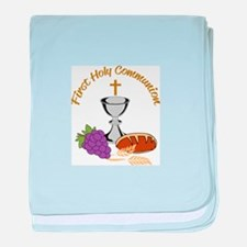 FIRST HOLY COMMUNION baby blanket