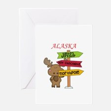 Alaska Moose What Way To The North Greeting Cards