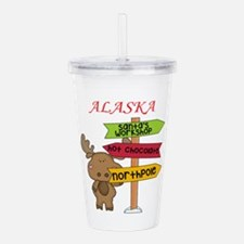 Alaska Moose What Way Acrylic Double-wall Tumbler