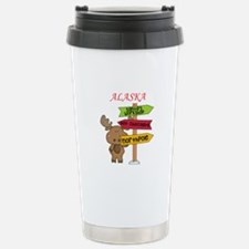 Alaska Moose What Way T Travel Mug