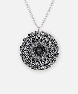 Tribal Mandala Necklace Circle Charm