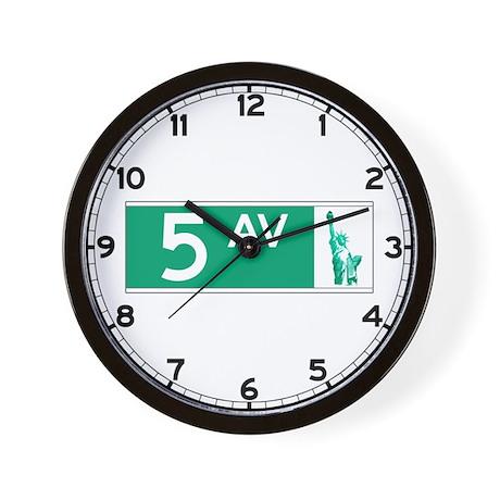 5th Avenue (new), NY - USA Wall Clock