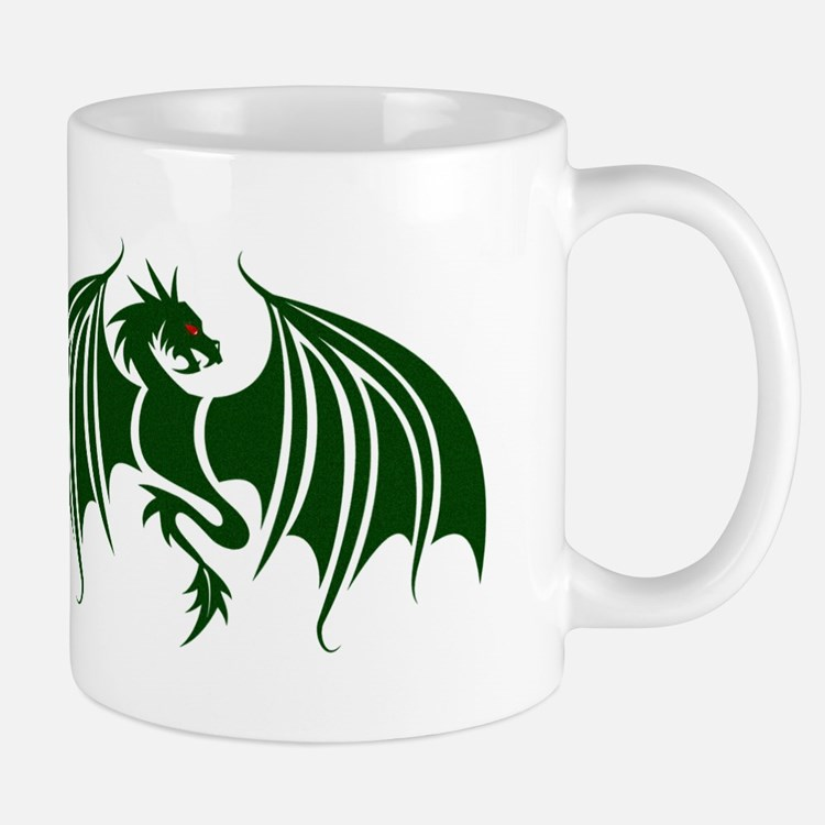 green dragon Mugs