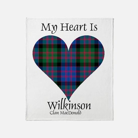 Heart-Wilkinson.MacDonald Throw Blanket