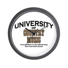 U of Country Music Wall Clock