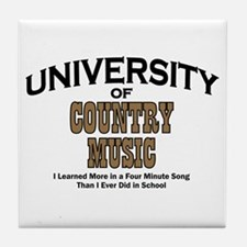 U of Country Music Tile Coaster