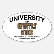 U of Country Music Oval Decal