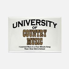 U of Country Music Rectangle Magnet