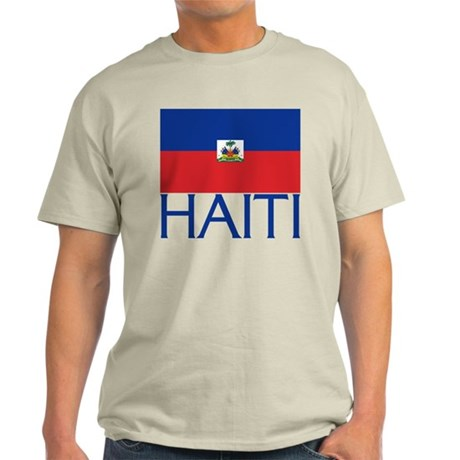 Haiti Flag (H) Light T-Shirt