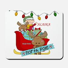 Alaska North Pole Sleigh Rides Mousepad