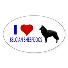 belgian Oval Decal