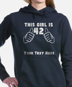This Girl Is 42 Women's Hooded Sweatshirt