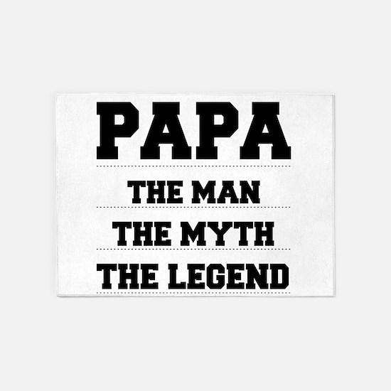 Papa,The Man,The Myth,The Legend 5'x7'Area Rug