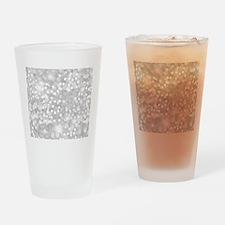 Silver Glitter Drinking Glass