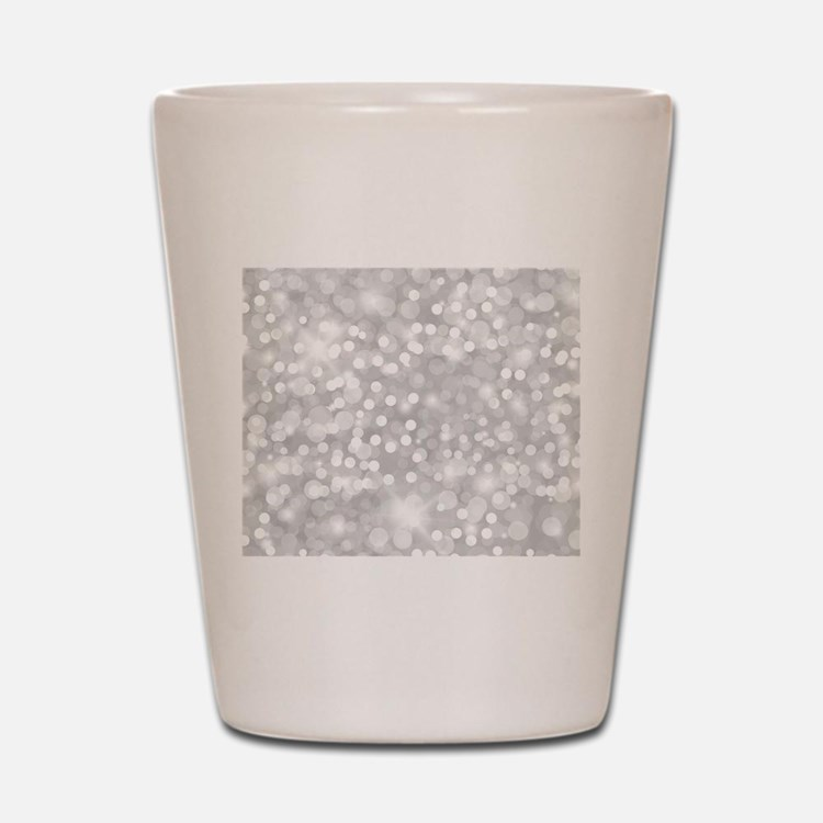 Silver Glitter Shot Glass
