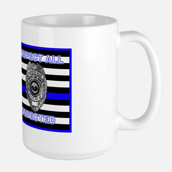 Police Flag-Blue-Respect Until Disrespected Mugs