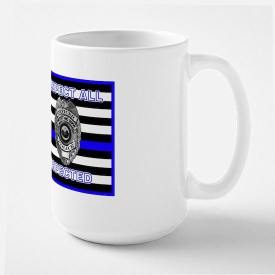 Police Flag-Blue-Respect Until Disrespected Mugs
