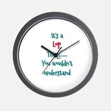 Lop thing Wall Clock