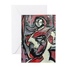 Mandoline Player Greeting Card