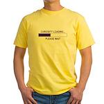 CURIOSITY LOADING... Yellow T-Shirt
